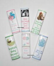 10 Personalised Baby Shower Chocolate Bar Wrappers  Favours, Posted 1st Class