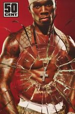 50 CENT BROKEN GLASS RAP MUSIC POSTER 2003 FUNKY #6590 22x34 NEW FREE FAST SHIP