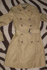 NWOT Very Nice DOUBLE BREASTED EDDIE BAUER Khaki RAIN TRENCH COAT Women SZ Small