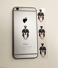 3 SPARTAN MOLON LABE #2 AMERICAN FLAG CELL PHONE IPOD SHAPE DECAL COLOR STICKER