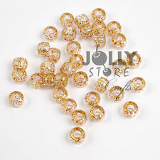 500 Gold Sparkle Glitter 9x6mm Pony Beads for crafts hair kandi jewelry