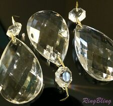 3 x Replacement Chandelier Crystal Pear Drops Pendeloques Chandelier Spare Parts