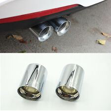 2x New Exhaust Muffler Silencer Pipe Tip For BMW Universal /// M Stainless Steel
