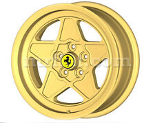 "Ferrari 208 308 GT4 GTB GTS Gold Five Spoke Ferrari Style 16"" Wheel Set 4 Pc New"