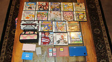 Nintendo DSi XL Blue System Bundle + 21 Games, SD Card & Cases, Charger