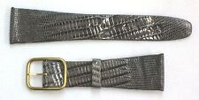 Bulova Accutron Vintage Tapered Grey Genuine Reptile 22mm  Watch Band/Strap NOS