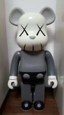 2002 BE@ARBRICK Bearbrick OriginalFake Kaws Mono Grey Medicom Toy Figure 1000%