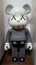 2002 BE@ARBRICK Bearbrick OriginalFake Kaws Mono Grey Medicom Toy Figure 1000%