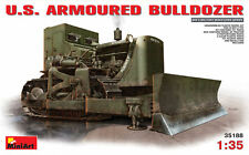 U.S. Armoured Bulldozer Plastic Kit 1:35 Model MINIART
