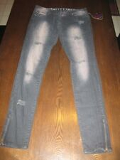 Size 9 Abbey Dawn by Avril Lavigne Smokey Black distressed Denim Skinny Jeans
