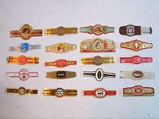 20 VINTAGE CIGAR BAND LABELS - NO DUPLICATES - VERY NICE -  OFC1-1h
