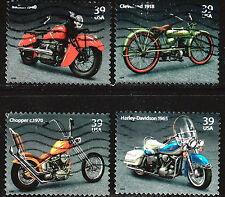 Scott #4085-88 Used Set of 4, American Motorcycles
