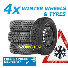 AUDI A4 2000-2007 4 WINTER STEEL WHEELS AND 205/55 R16 TYRES