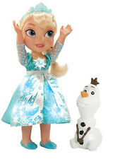 Disney Frozen Snow Glow Elsa Princess Doll Dress Lights Up Sings Let It Go Olaf