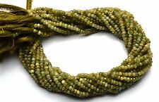 Natural Gem Chrysoberyl Cats Eye 3.5MM Micro Facet Rondelle Bead Strand 13 Inch