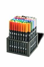 Tombow Dual Brush Pen 96 Piece Set-Professional Marker Desk Set with Stand