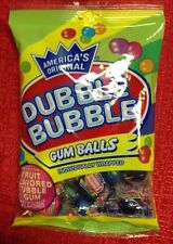 America's Original Double Dubble Bubble GUM BALLS Individually Wrap Fruit Flavor