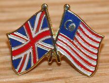 UK & MALAYSIA FRIENDSHIP Flag Metal Lapel Pin Badge Great Britain
