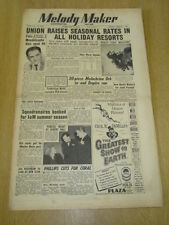 MELODY MAKER 1952 FEBRUARY 9 MUSICIANS UNION SQUADRONAIRES JOHNNY DANKWORTH