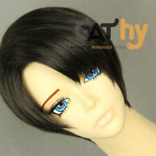 Hot Attack on Titan Levi Short Cosplay Costume Wig Free shipping