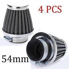 4x 54mm  GS Air Filter Chrome For Kawasaki GPZ900 GPZ750 LTD KZ750 KZ1000 Suzuki