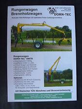 0113) DORN-TEC Rungenwagen / Brennholzwagen - Prospektblatt Brochure