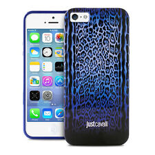 cover case iphone 5 5s JUST CAVALLI by PURO blu leopard con scatola sigillata