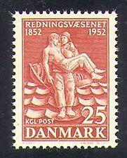 Dinamarca 1952 salvavidas servicio/emergencia/salvamento/personas 1v (n37377)