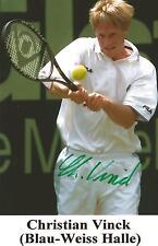 Autogramm AK Christian Vinck Tennis eh. Tennisprofi 80er 90er handsigniert