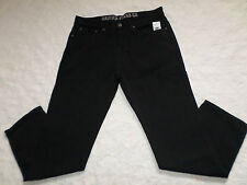 NAUTICA JEANS MENS CARPENTER SIZE 38X30 TAPERED FIT ZIP FLY BLACK COLOR NEW NWT