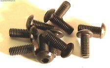 M3 x 18mm 3 x 18 Black Inner Hex Button Socket Screw x 10