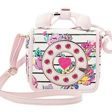 "NEW BETSEY JOHNSON Floral ""MUST HAVE MINI PHONE"" Crossbody Handbag SALE"