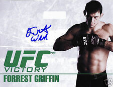 FORREST GRIFFIN UFC AUTOGRAPH SIGNED PP PHOTO POSTER