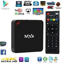 MX9 4K ULTRA HD SMART TV BOX TV IP TV KODI DECODER HD ANDROID H.265 XBMC