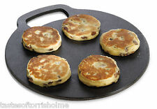Kitchen Craft Hierro Fundido Scone Welsh Tortas Plancha Estufa De Piedra Redondo Placa 27cm