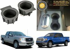 (2) Front Center Console Rubber Cup Holders Insert For 2004-2014 Ford F-150 NEW