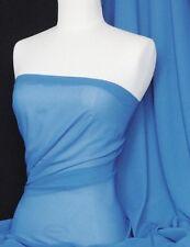 Blu Fiordaliso Soft Touch in Chiffon Velato tessuto materiale q354 crnbl