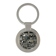 Black Circuit Board Chunky Circle Keyring PCB IT Gadget resistor capacitor BNIB