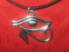 USA EGYPT EGYPTIAN EGYPT SILVER TONE EYE OF HORUS RA PENDANT CHARM NECKLACE
