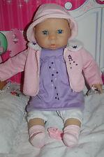 Babypuppe Lia 50cm aus hochwertigem Softvinyl + weichem Stoffkörper +Schlafaugen