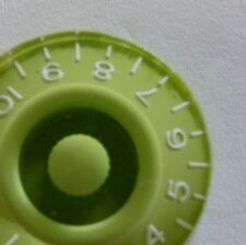 POP-KNOB guitar speed knob in LIME GREEN with white numbers