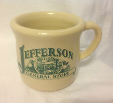 JEFFERSON TEXAS GENERAL STORE ADVERTISING HEAVY RESTAURANT WARE COFFEE MUG / CUP