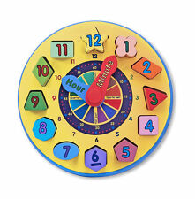 Wooden Shape Sorting Clock-this is the best learning clock on the market!