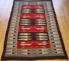 """4' x 6'3""""  Marvelous Antique Native American 100% Wool Navajo Weaving Rug"""