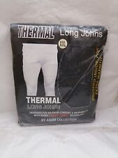 Mens Thermal Long Johns by Adam Collection - Dark Grey Size XXL