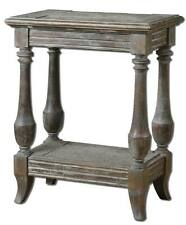 Gorgeous DISTRESSED Solid Wood Side Accent Table Weathered Rustic Cottage