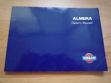 MF NISSAN ALMERA N15 Owners Manual Hand book Pulsar Sentra GA14DE GA16DE CD20