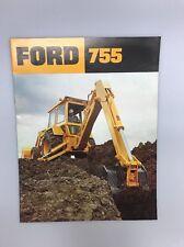 Vintage Ford 755 Tractor Loader Backhoe Advertising Brochure 1970s Construction
