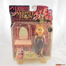 Muppets Miss Piggy series 1 muppet show action figure short hair  worn packaging