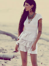 Free People Ivory White Sounds Of The Sea Dress XS ORIGINAL $128